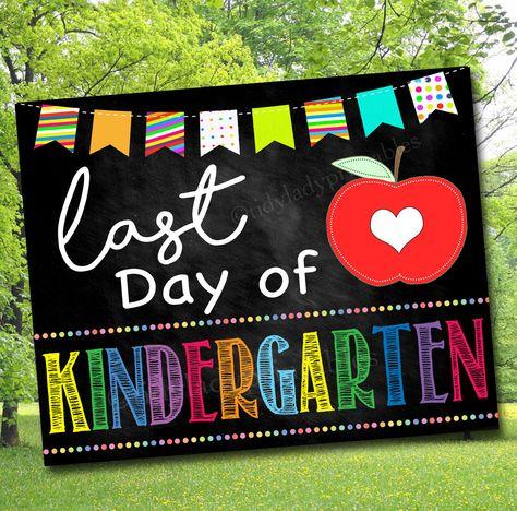 Last Day of School Photo Prop, Last Day Kindergarten, School Chalkboard Milestone Sign, Last Day of School Printable Prop, INSTANT DOWNLOAD