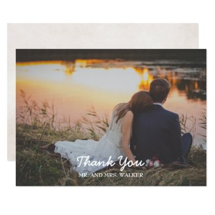#wedding #thankyoucards - #Pink Photo Wedding / Shower Thank You Card
