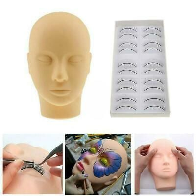 Advertisement Training Mannequin Flat Head Stand Practice Makeup Lashes Kit Extension Eye T9f6 Eyelash Extensions Eyelash Extension Training Makeup Training