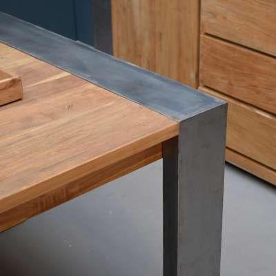 Esstisch Dengkleh 240 X 100 Cm Teakholz Massiv Holztisch Tisch Gartentisch Holz Metall Holztisch Teak Holz