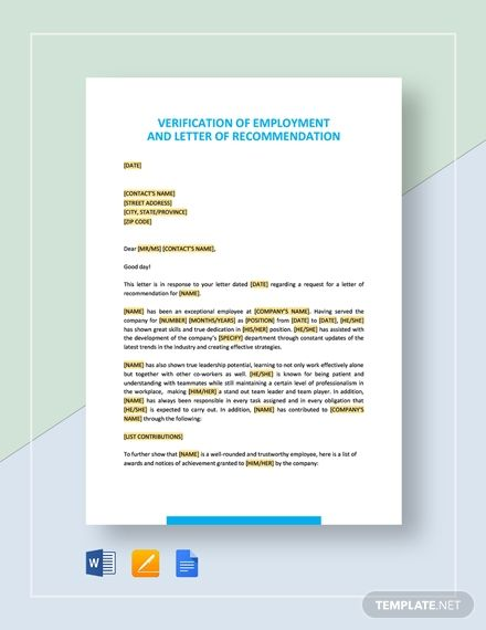 Free Recommendation Letter Template For Student Letter Templates