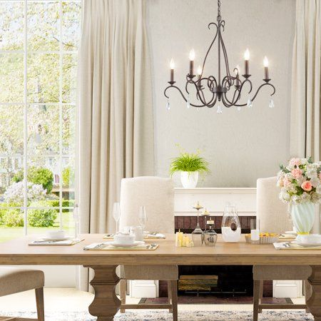This Chandelier Is Neither Large Nor Small Its Standard Size Makes It Suitable For Most French Country Chandelier Country Chandelier Transitional Chandeliers