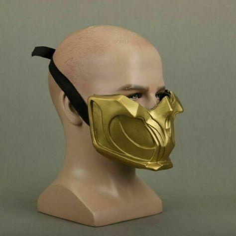 Mortal Kombat 11 Scorpion Cosplay Mask Costume Prop Game Mk 11