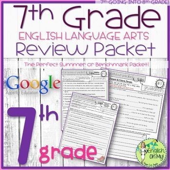 7th Grade English Review Packet Summer Packet End Of The Year