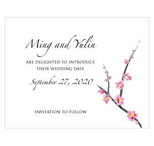 Cherry Blossom Wedding Save The Dates From The Wedding Outlet Sakura Cherry Blossom Wedding Cherry Blossom Wedding Decor Cherry Blossom Wedding Invitations