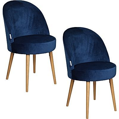Alia Velvet Dining Chair Sapphire Set Of 2 259 Zanui