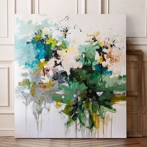 The Emerald Necklace 55x50. Part of a group that will be in the windows of Stanley Korshak in Dallas for the month of October, and the go on to @craigheadgreen gallery. #art #artandfashion #artshow #abstract #abstractart #stanleykorshak #craigheadgreengallery #abstractpainting #artist #color #interiordesign #carlosramirez