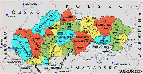 Vysledok Vyhľadavania Obrazkov Pre Dopyt Mapa Slovenska Kraje A