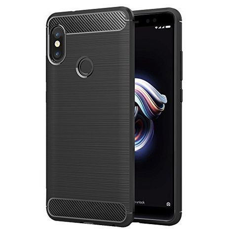 Mehr Infos Simpeak Xiaomi Redmi Note 5 Pro Hulle Schwarz Premium Weiche Karbonfaser Elastisch Schutzendes Ruckseiten Case Fur Xiaomi R Elastisch Fest Rutsche