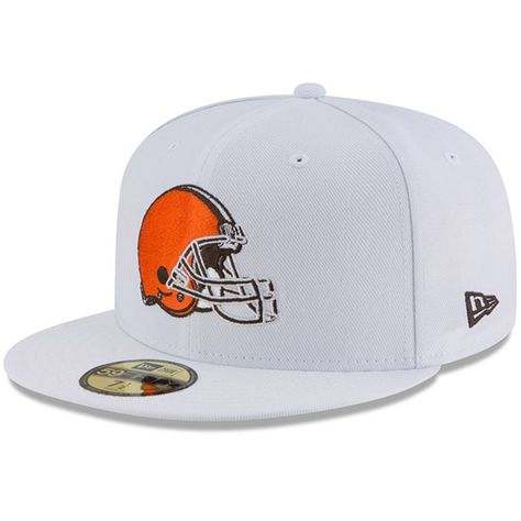 Men s Cleveland Browns New Era White Omaha 59FIFTY Fitted Hat ac7e250bf