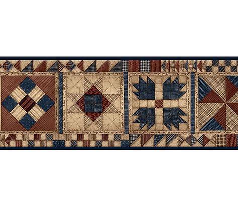 Patchwork Quilt Wallpaper Border By Chesapeake