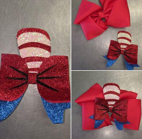 NEW Beautiful Denim Polka Dot Bow Hair Clip 2 Colours UK Seller