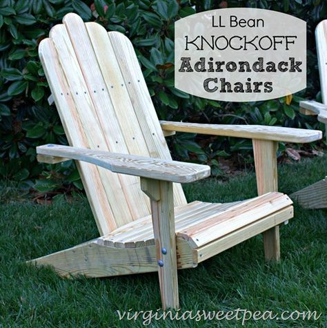 L L Bean Knockoff Adirondack Chairs Diy Garden Furniture
