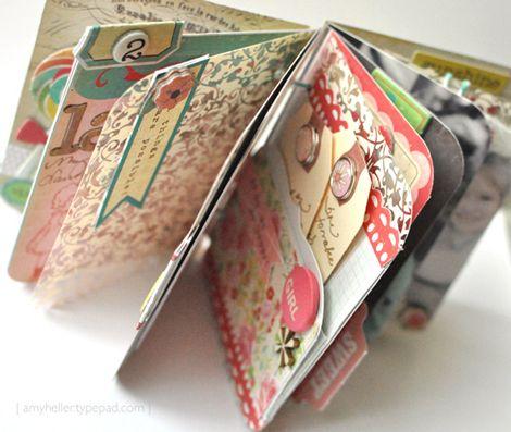 Mini album de scrap par Amy Heller. On peut en voir plus sur le blog crate paper !