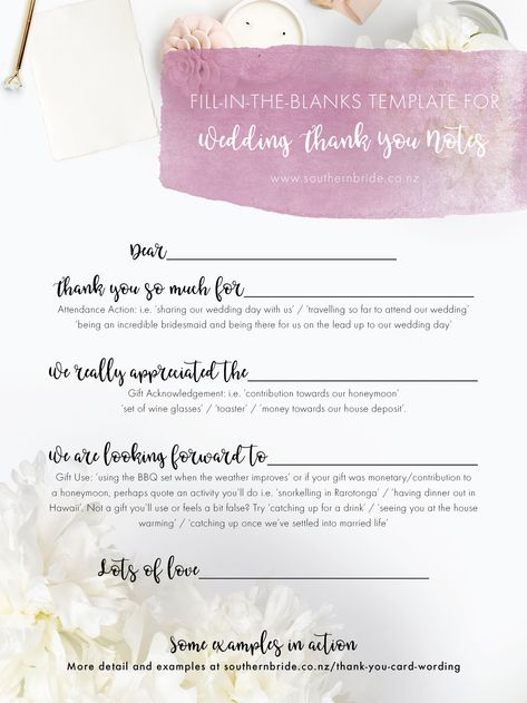 list of pinterest thank you notes wedding gifts writing pictures