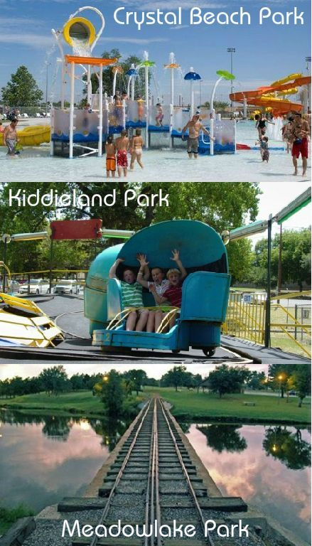 Across Oklahoma City Parks Are Filled With Amusement Park Style Rides Miniature Trains Mini Golf Cou Oklahoma Travel City Park Playground Travel And Tourism