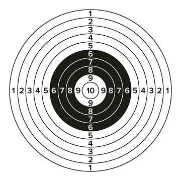 Cel Pistolet Wektor Klasyczne Strzelanie Z Papieru Cel Ilustracja Dla Mysliwych Sportowych Ilustracji Policji Wojskowej Osiagniecie Celem Jablko Png I Wektor Shooting Targets Paper Targets Archery Accessories