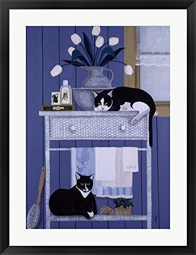 Oscar And Harold By Jan Panico Framed Art Print Wall Picture Black Frame With Hanging Cleat 27 X 35 Cat T Gallery Wrap Canvas Painting Prints Canvas Prints
