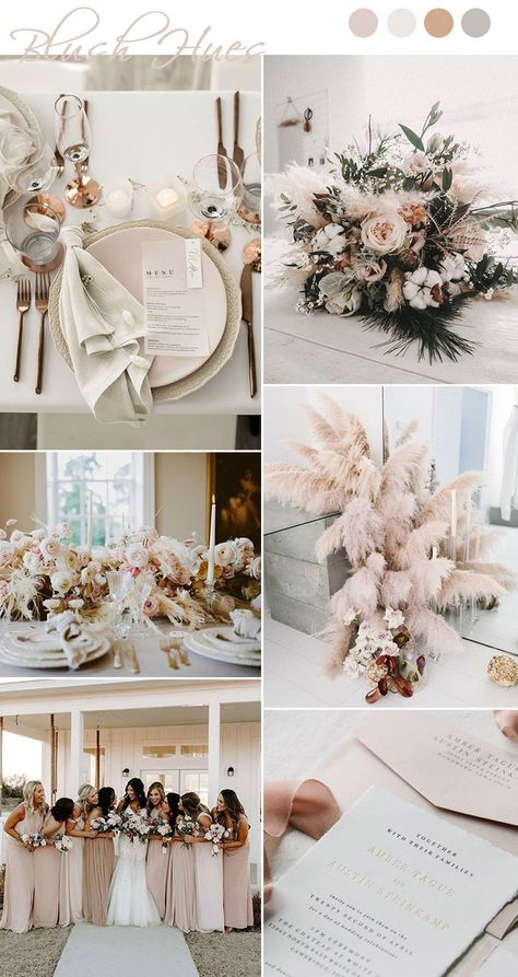 modern chic blush,ivory and rose gold shades wedding colors