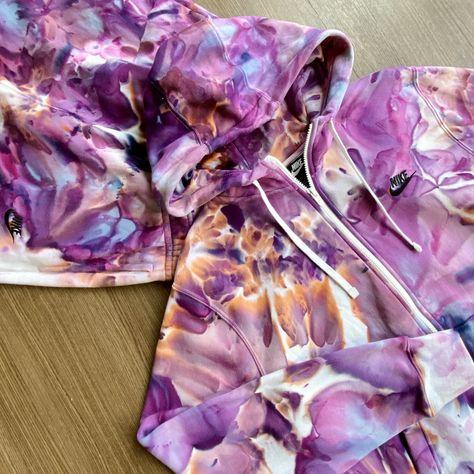 tie dye Nike sweatsuit set in 'PURPLE REIGN' - XL - crewneck. / XS