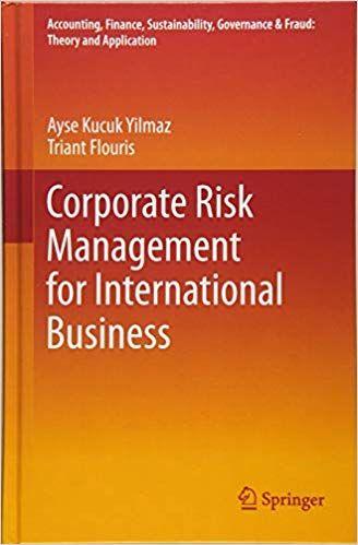 Corporate Risk Management For International Business Corporate Risk Management Risk Management Management
