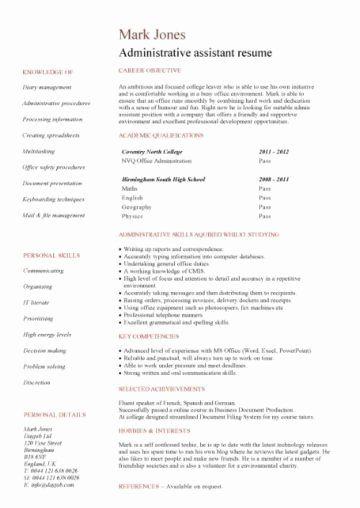 Warehouse Worker Resume No Experience Fresh Graduate Cv Template Student Jobs Graduate Jobs Career In 2020 Cv Format For Job Job Resume Format Job Resume Examples
