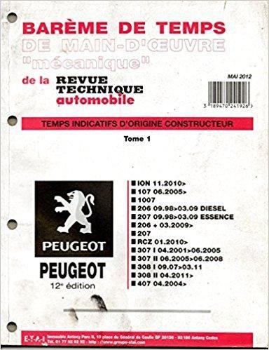 PEUGEOT GRATUITEMENT PDF 1007 REVUE TÉLÉCHARGER TECHNIQUE