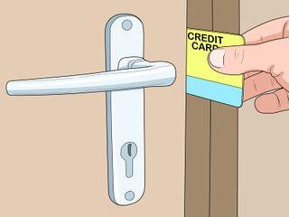 Video How To Open A Door With A Credit Card Wikihow Doors Bathroom Door Locks Unlock