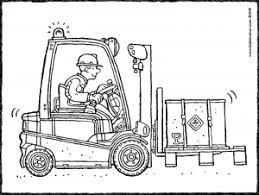 Forklift Truck Kleurplaten Sprookjes Thema
