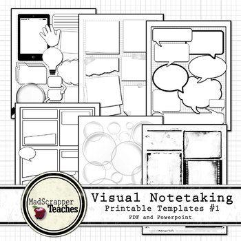 Visual Notetaking Printable And Editable Templates 1 For Visual