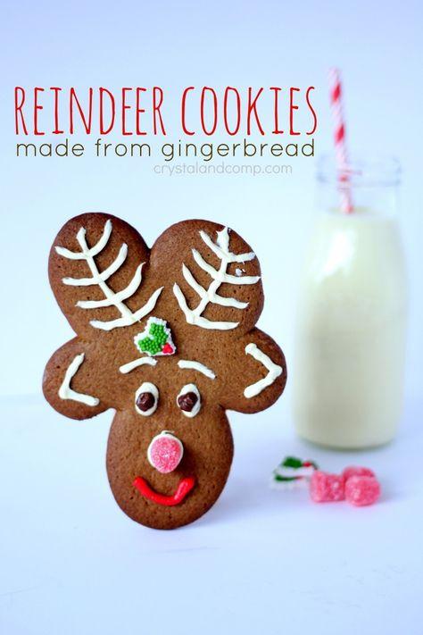 reindeer cookies made from gingerbread