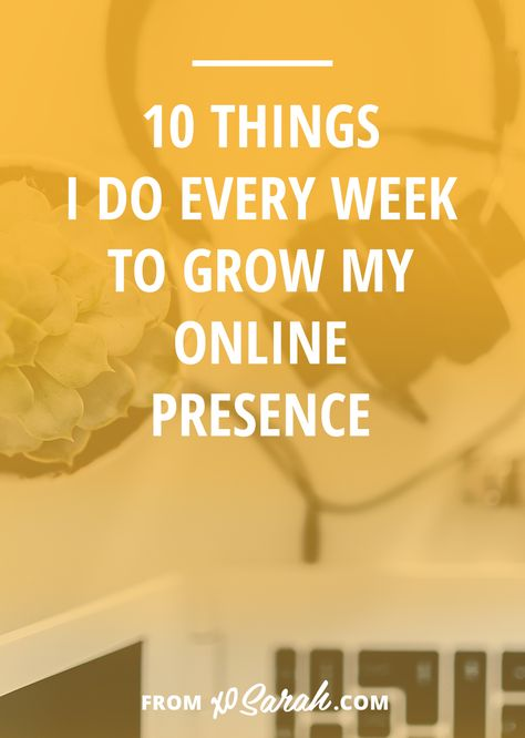 One of the best things I've learned as a blogger and online biz owner is to not do all the things all week long without any plan. To not jump from task to task, checking off items as they pop-up. To be aware of what helps to grow my blog, boost my subscribers, engage my audience, and ultimately bring in customers and clients vs what is taking away from my core goals. So today I wanted to share the 10 most important things I do every week to grow my online presence . . .