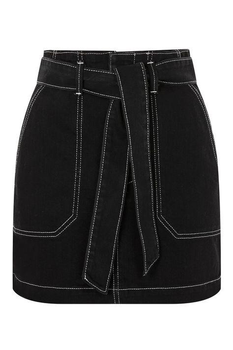Belted Denim Skirt | Topshop