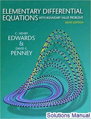 Elementary Differential Equations With Boundary Value Problems 6th Edition Edwards Solutions Manual Digital Deal Promotion 2021 Differential Equations Equations Elementary