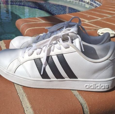 Adidas Shoes 80  OFF    adidas Shoes   Adidas Neo Cloudfoam Sneakers   Color  Black White Gold   Size  8 #Adidas #Adidasshoes #shoes #style #Accessories #shopping #styles #outfit #pretty #girl #girls #beauty #beautiful #me #cute #stylish #design #fashion #outfits #diy #design