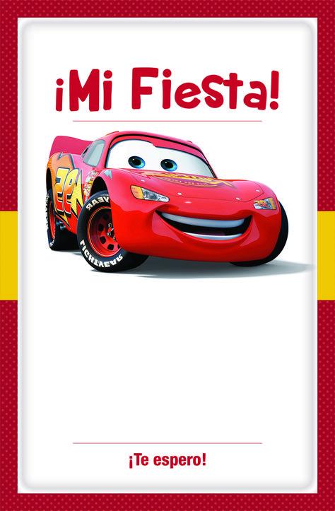 Invitacion Cars Para Imprimir Gratis Plantilla Descargar
