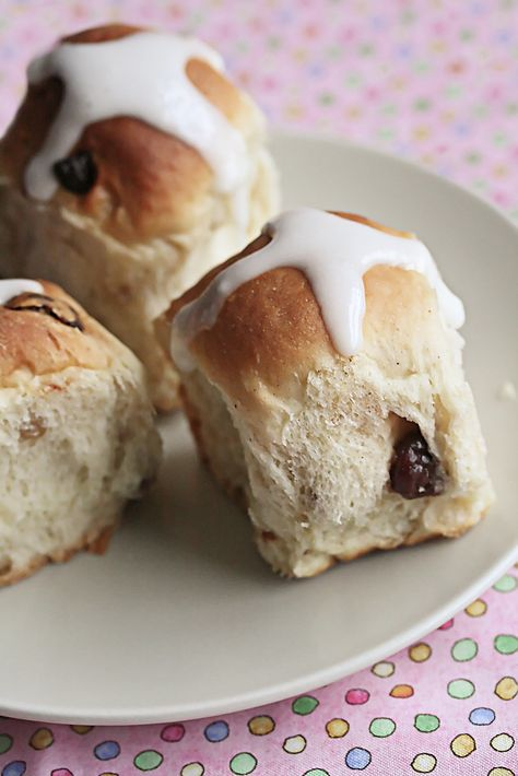 Lemon-Cherry Hot Cross Buns: This fresh and fruity twist on the traditional hot cross buns is flavoured with dried cherries and lemon zest. Bake up a batch for your Easter brunch!