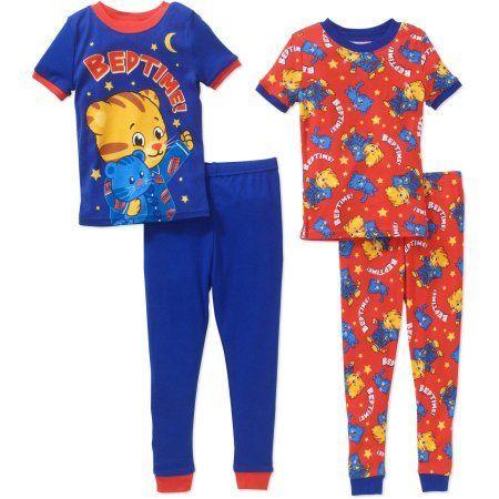 Toddler Boys Daniel Tiger 4-Piece Sleepwear Cotton Pajama Set