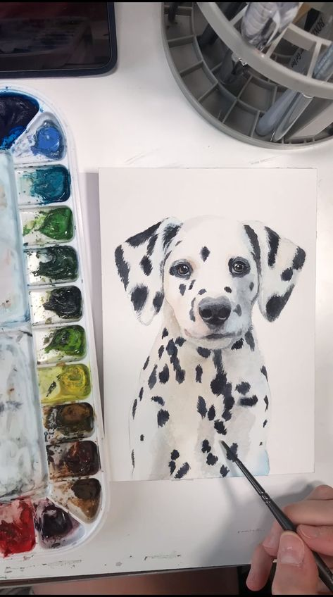 Painted just for my puppy collection, this little guy will add the perfect finishing touch to a nursery or firehouse themed kids room! I have digital and shipped options, and tons of designs to choose from, all uniquely hand painted in watercolor by me, Emily Olson!