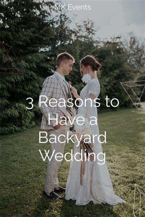 2021 is the year of the backyard wedding! Whatever your wedding style, there is a backyard wedding out there for you. Not sure if you're convinced? Click here to read the blog about why it's worth considering a backyard wedding! #backyardwedding #intimatewedding #weddingplanning
