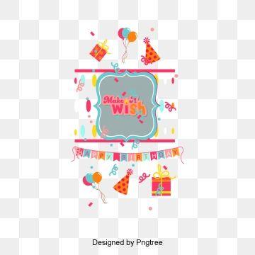 Vector Birthday Card Birthday Clipart Happy Birthday Greeting
