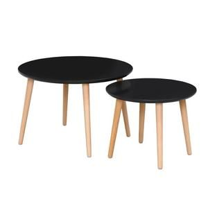 Table Gigogne Ronde Table Basse Gigogne Mobilier De Salon