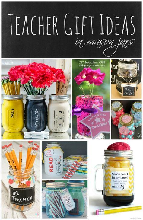 Teacher Gift Ideas in Mason Jars | Mason Jar Crafts Love