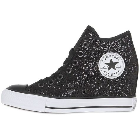 Converse Women 80mm All Star Mid Lux Glittered Sneakers
