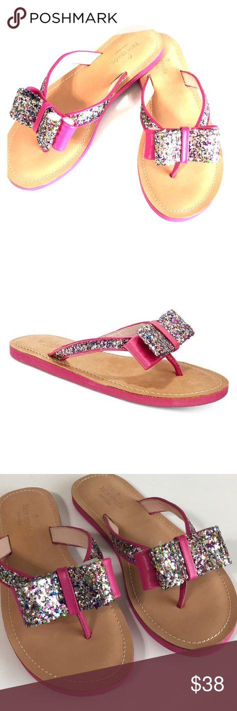 6a7b9098b EUC Kate Spade Icarda Bow Sandals EUC Kate Spade Icarda Pink Multi color Glitter  Bow Sandals