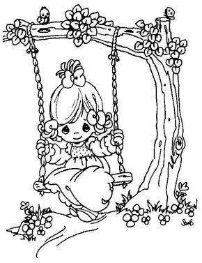 Desenhos Colorir Meninas 6 Con Imagenes Dibujos Dibujos De