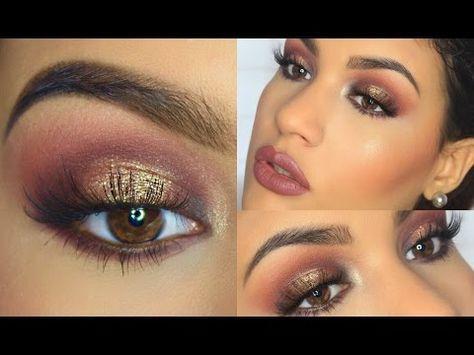 12 Maquillaje ahumado con dorado