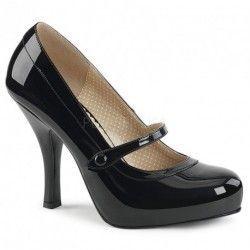 Aiguille Chaussure Noir Talon Up Vernis Pin Escarpin Plateforme À b6gY7fvy