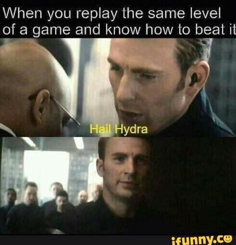 When you replay the same level of a game and know how to beat it - )