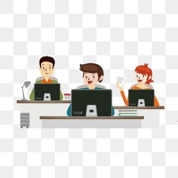 Three Office Workers Office Clipart Cartoon Character Png And Vector With Transparent Background For Free Download Cartoon Styles Character Design Cartoon Illustration